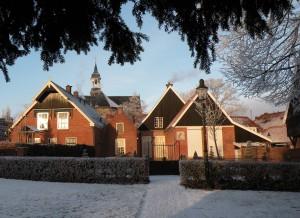 achterzijde drostenhuis sneeuw